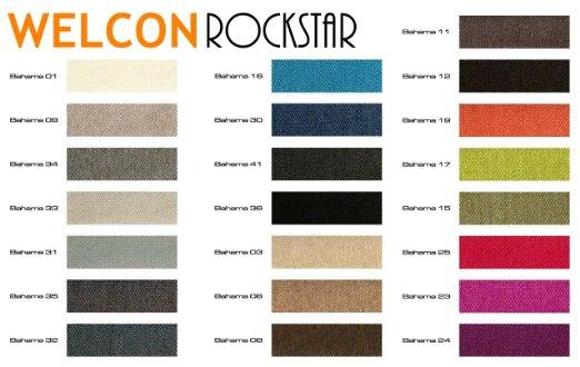 Auswahl an Farben ROCKSTAR Boxspringbett von Welcon
